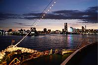 船上からの横浜みなとみらいの夜景