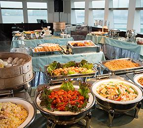 ディナーバイキング(食べ放題):たくさんの本格中華料理をご用意